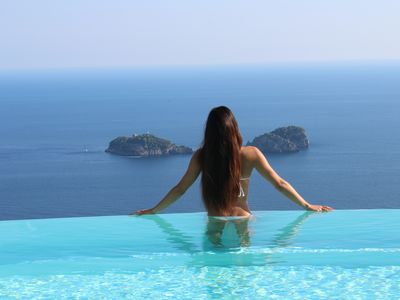 Photo for ASTONISHING VILLA AMAZING VIEW ON AMALFI COAST& LI GALLI ISLES