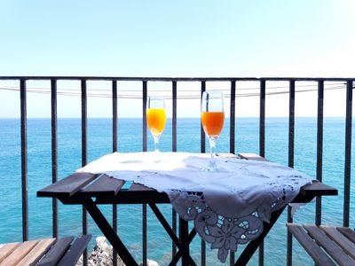 Photo for House with Balcony on the Sea in Cefalù