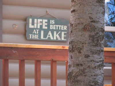 Photo for Life is Better at the Lake at Lakeside Cottage