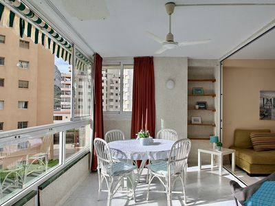 Photo for Cozy apartment on the beach with good views, for 4 people
