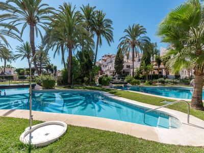 Photo for Playa Duque Marbella Apartment, Sleeps 4 with Pool and Air Con