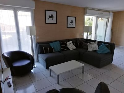 Photo for Apartment 100 m2 overlooking terrace 60 m2, 8 minutes walk to Socoa beach