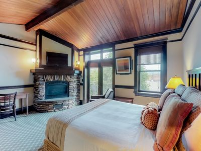 Photo for Romantic spa tub room w/ private balcony & downtown views!