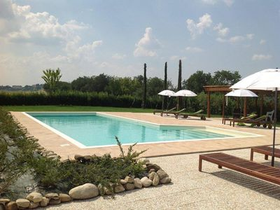 Photo for TWILIGHT in Casale apartment with pool, in the hills