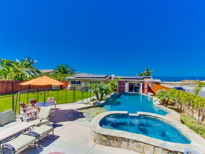 SPACIOUS OCEANFRONT HOME WITH HEATED POOL & JACUZZI--Ping Pong, Huge Yard