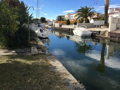 Photo for house on canal with mooring 12m near beach and downtown