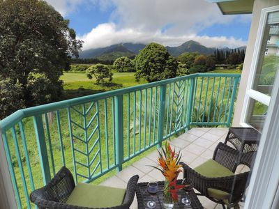 Photo for Private, Quiet Townhome on Princeville Golf Course with Mountain Views
