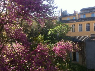 Photo for Aix district Mazarin for 4p, 1st floor quiet overlooking a flower garden