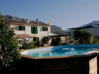 Photo for Finca with renovated house, pool, parking and large orchard with mountain views