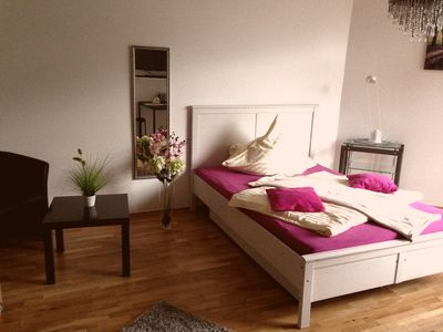 Photo for Wonderful, bright apartment with balcony - quiet and yet close to the city! long-term