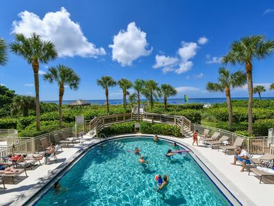 Photo for Gorgeous Sunset Perfect location overlooking Pool and Gulf beach