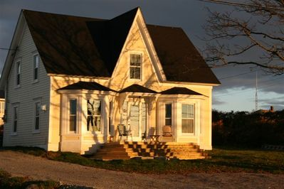 the house in late afternoon