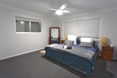 Large master bedroom with King Bed, which can also be made into two Single Beds upon request. Portable cot is also available.