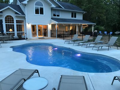 Photo for Waterfront 6 bedroom  Home with Private Pool and Dock