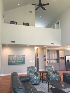Living room to upstairs view