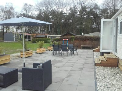 Photo for Lovely new 6 person chalet on 5 star campsite Ter Spegelt!