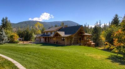 Photo for Large log house in private forest near Sun Peaks