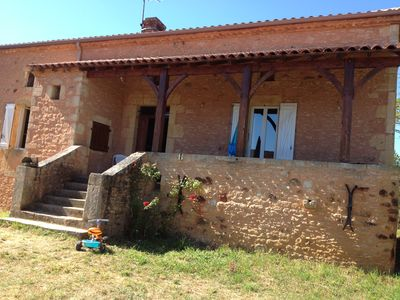 Photo for Beautiful 19th century stone house on 20 ha- Near Bonaguil