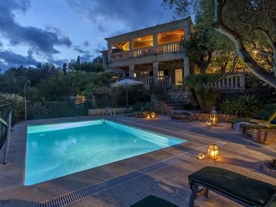 Photo for Casa Agosto sleeps 8 4 bedrooms heated pool, Aircon, View