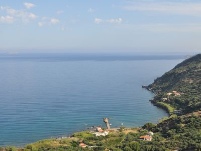 Photo for A beautiful fully equipped 60 sq meter house located at the beach of Ravdouchas