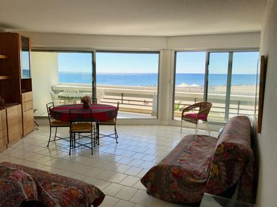 Photo for T3 direct beach superb view on sea 71m2 6 pers + parking