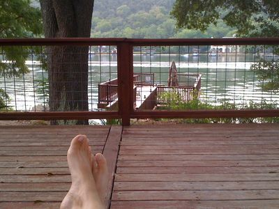 Relax on Lake Austin.  Huge deck overlooking the lake.