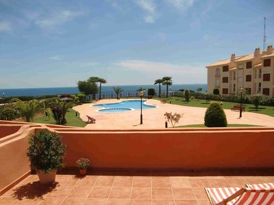 Photo for Apartment with fantastic location with pool and sea view
