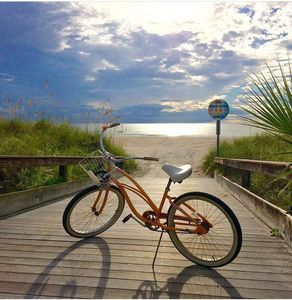 Photo for BeachHouse Historic 2 bed bungalow w/private bikes, patio & steps to beach