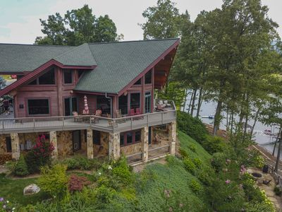Photo for Luxury Living! Lakefront Home with Boat Dock Kayaks  Firepits Fishing Mtn Views