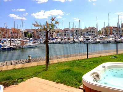 Photo for Lovely villa panoramic view of the marina- Garden and Jacuzzi-linen provided