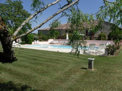 Photo for Fabulously equipped rural farmhouse + private pool & private tennis court