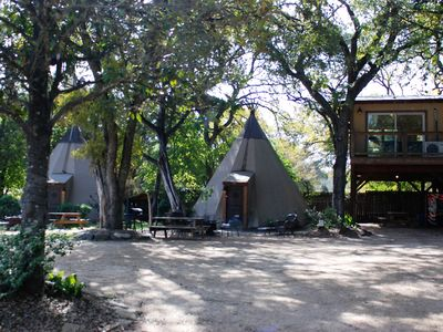 Photo for Tipi #2 Deer - Glamping on the Guadalupe River!