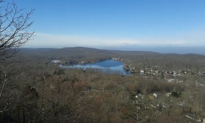 A view of Cranberry Lk. from one of the many hiking trails and state park!