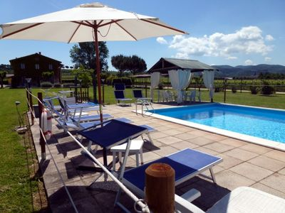 Photo for Comfortable Apartment In A Farmhouse With Pool Near Assisi And Perugia