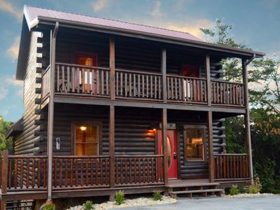 Photo for 10% BACK TO SCHOOL SPECIAL 7/6-8/30 LeConte Waters Luxury Cabin, Indoor Pool -Hot Tub -WiFi