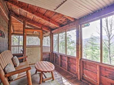 Photo for Peaceful Mountain Rose Sevierville Cabin w/Hot Tub