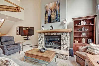 Gas Fireplace - Cozy up around the fireplace while you watch a movie on the flat-screen TV.