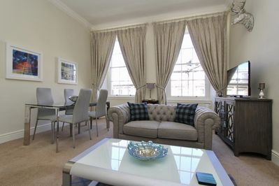 Living Room overlooking Broughton Place