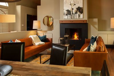 Gorgeous Living Area: Enjoy your Fireplace and comfort in style.