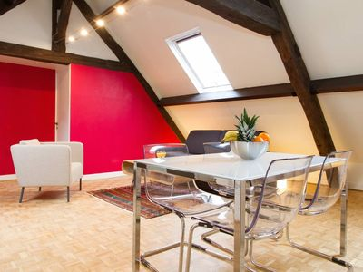 Photo for HEART OF PARIS - ATTIC DUPLEX IN COVERED PASSAGE!