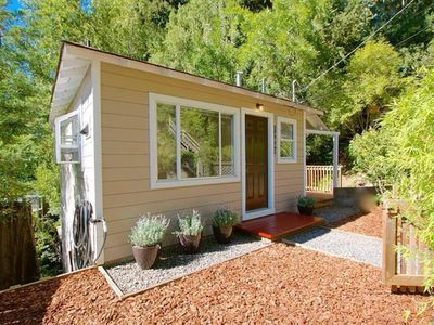 Photo for NEW LISTING! Dog-friendly house w/tranquil surroundings, deck, walk to the river