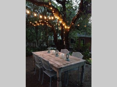 Photo for Charming Sonoma Getaway with huge backyard - Shabby Chic!