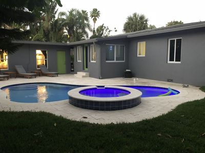 Stunning Wilton Manors area home with large yard and heated pool/spa