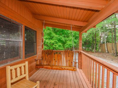 Photo for Cabin Fever is a beautiful 2BR 2 bath cabin that sleeps 6 - 8 people