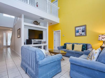 Photo for 3 MILES FROM DISNEY!! GAMEROOM!! 2 MASTER SUITES W/ FLAT SCREEN TV'S !!BBQ GRILL!! CONSERVATION VIEW!!
