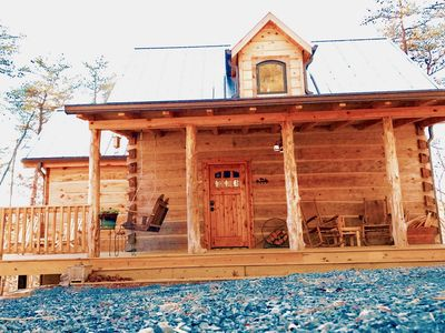Photo for New-Traditional Kentucky LOG Cabin ON RIVER NEW CONSTRUCTION! Best in Mentone
