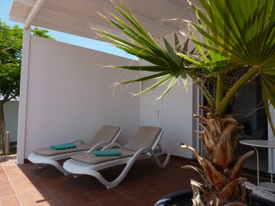 Photo for modern apartment just a few meters from the beach with great views