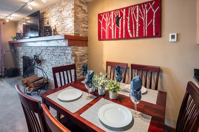 Enjoy meals in the Dining Area