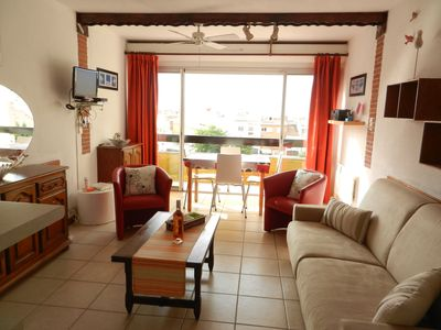 Photo for Cap d'Agde - Apartment 40 m2 with garden wifi, garage / parking