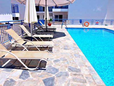 Photo for Argaka - 1 Bedroom Penthouse Apartment - Communal Pool - Roof Terrace -Sea Views
